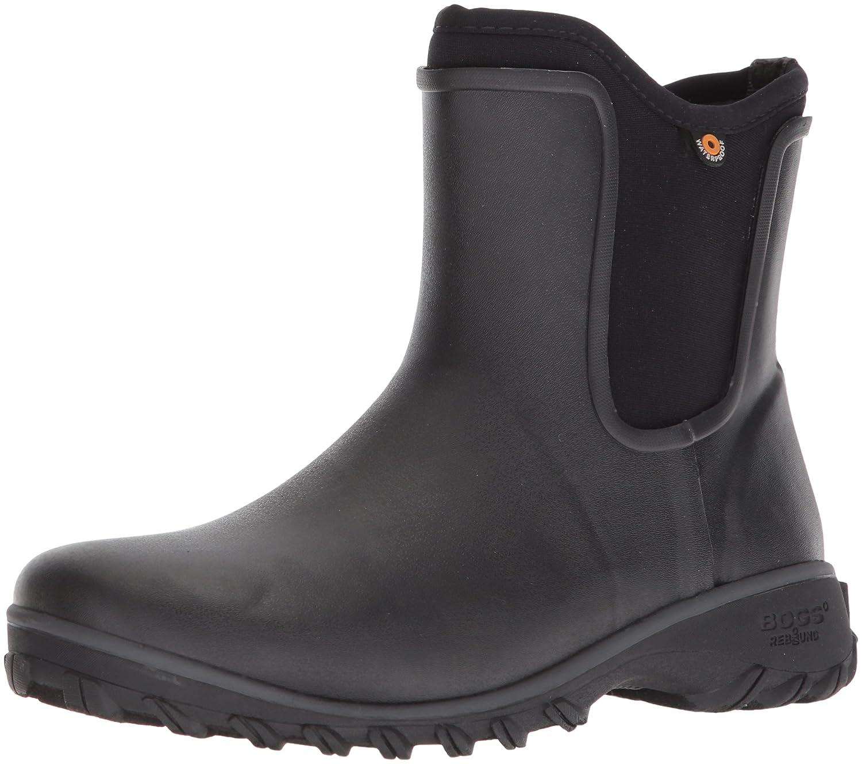 Bogs Women's Sauvie Slip Solid Rain Boot B073PJ9K2B 7 B(M) US|Black