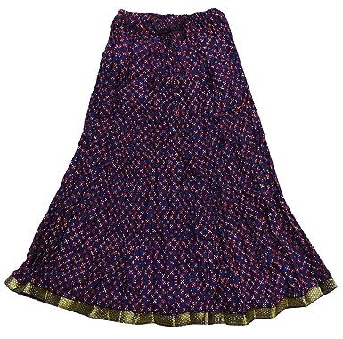 1e8f9147dda Jupe En Coton De Mode Indienne Nouvelle Jupe De Bollywood Élégant Imprimé  Occasionnel