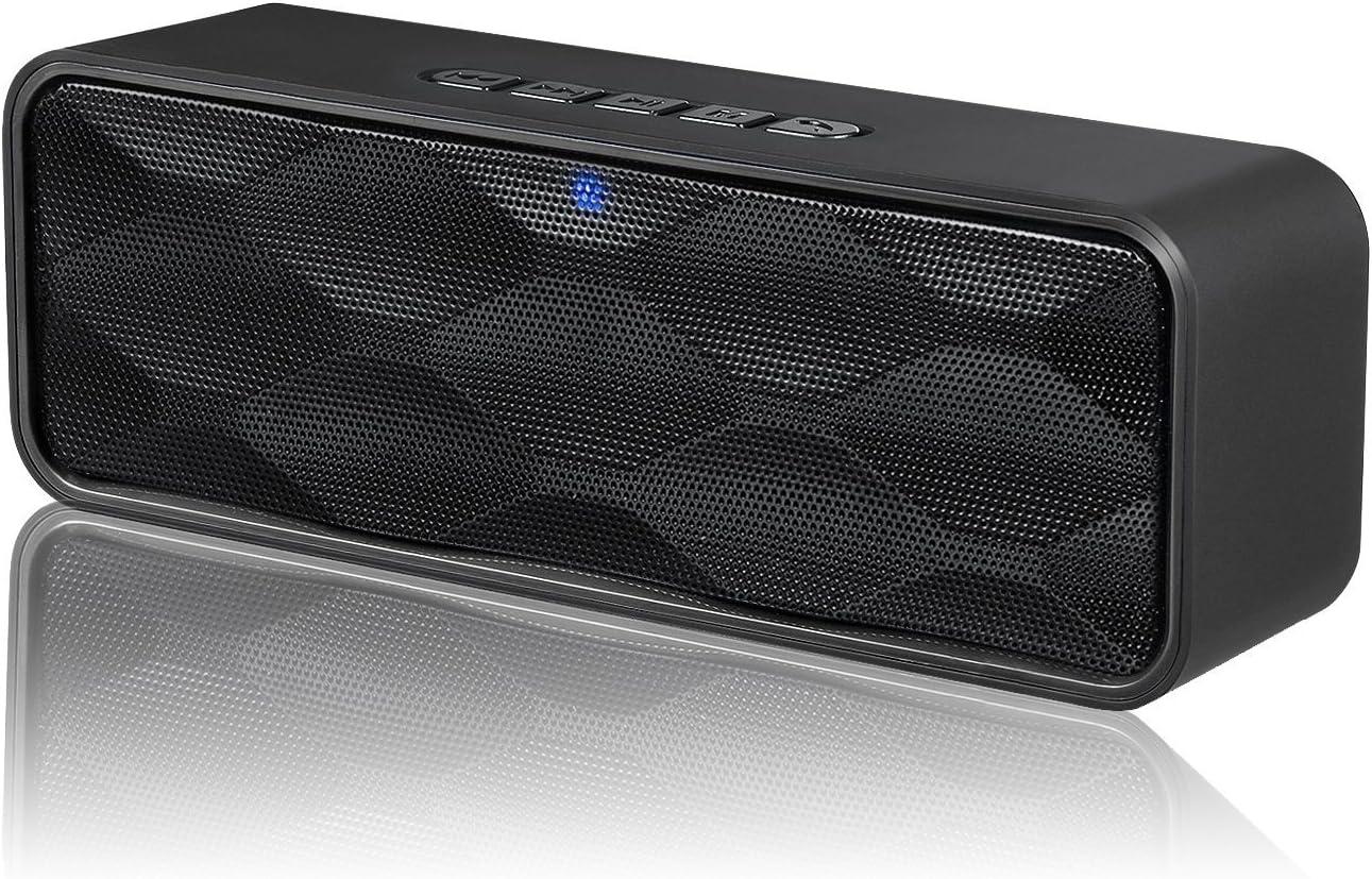 ZoeeTree S1 - Altavoz Bluetooth Inalámbrico, Altavoz Estéreo Portátil para Exteriores con Audio HD y Graves Mejorados, Bluetooth 4.2, Llamadas Manos Libres