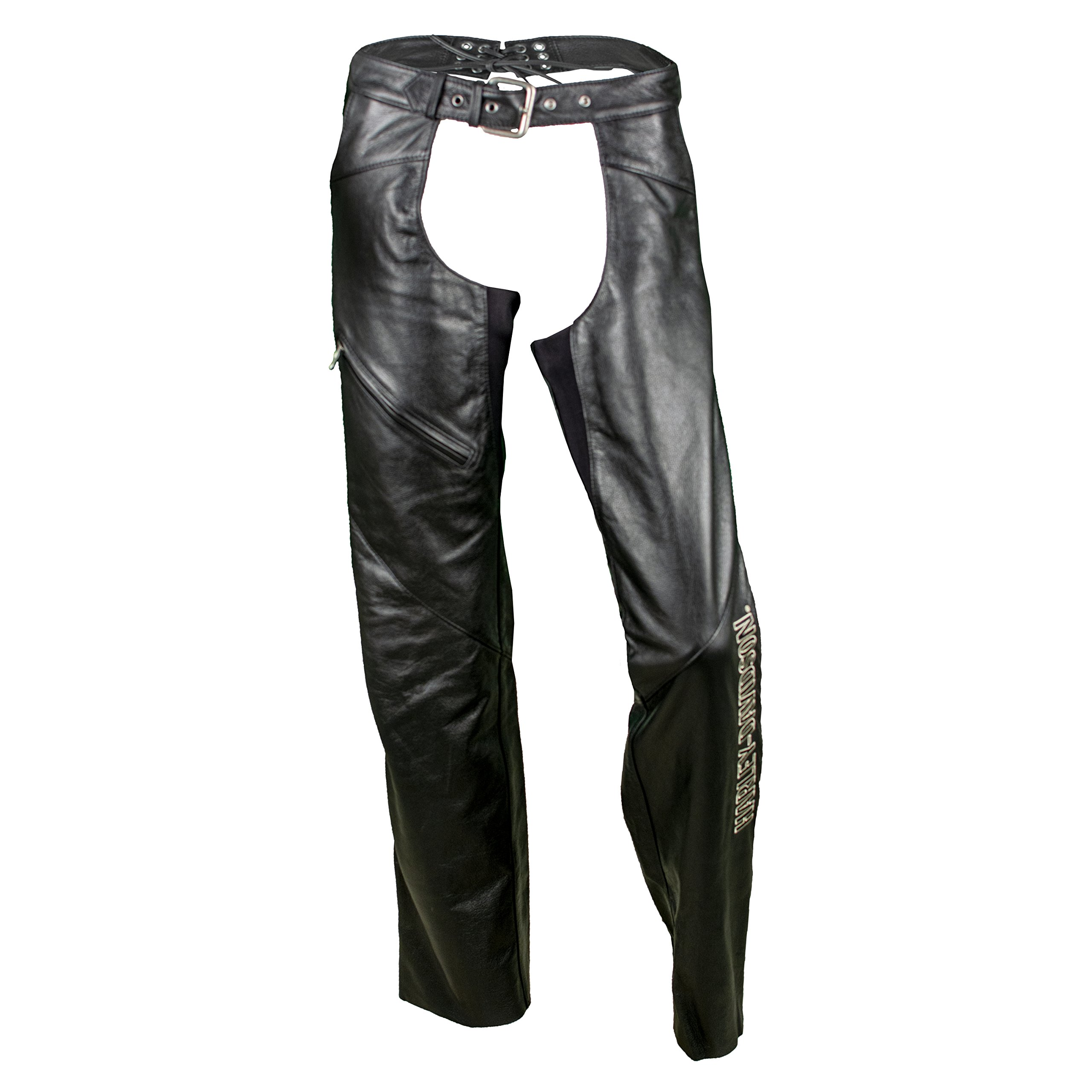 Harley-Davidson Women's Deluxe Leather Motorcycle Chaps 98097-06VW (Small) by Harley-Davidson (Image #1)
