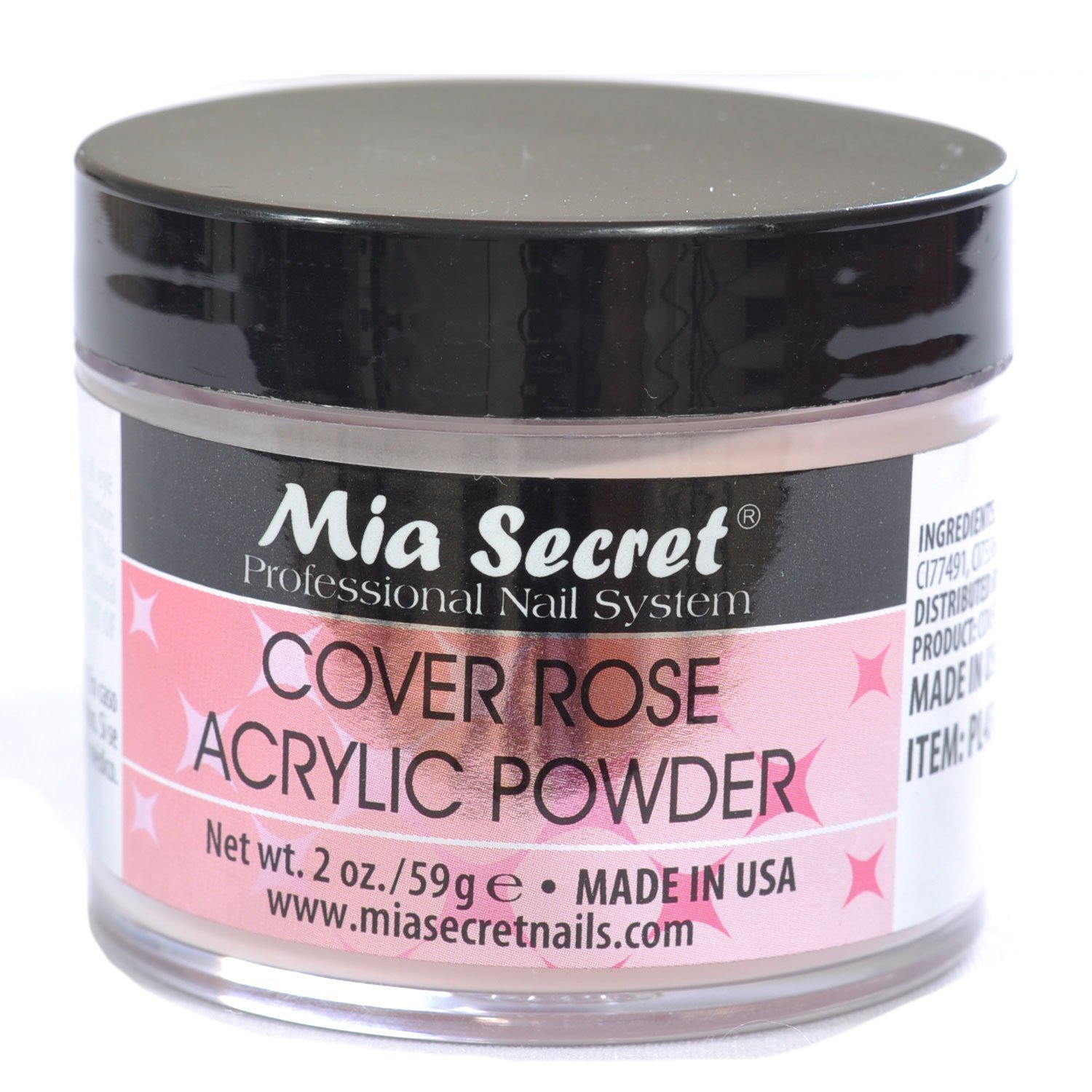 Mia Secret Cover Rose Acrylic Powder 2 Oz by Mia Secret