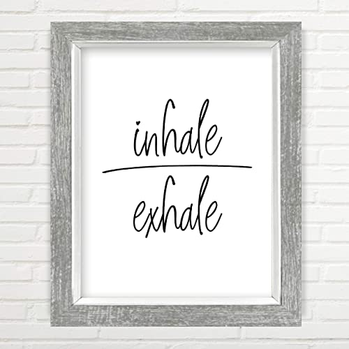 Amazon.com: Inhale Exhale Wall Art - Yoga Wall Art ...