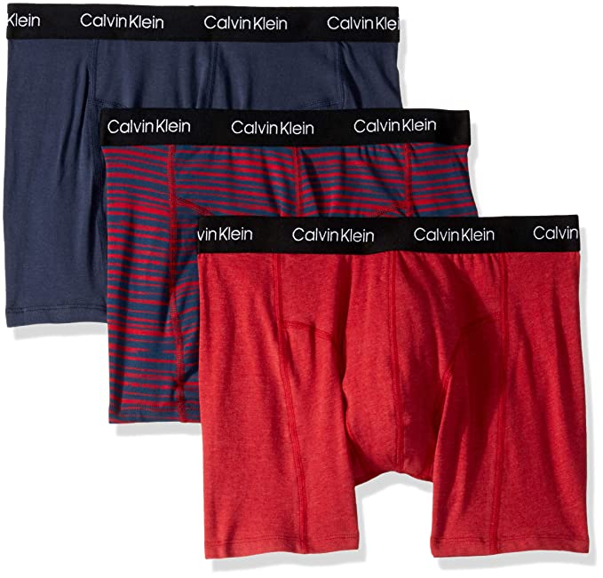 d9ece9208e38 Calvin Klein Men's Elements 3 Pack Boxer Briefs at Amazon Men's Clothing  store:
