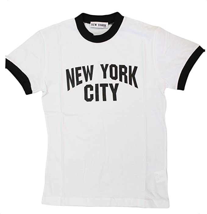 KIDS John Lennon Ringer Black and White New York City YOUTH T-Shirt The Beatles