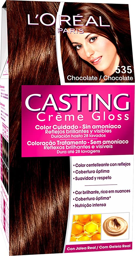 LOreal Paris Casting Crème Gloss Coloración sin Amoniaco 535 Chocolate - 600 gr