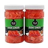 Pickled Sushi Ginger - 2 Jars of 12-oz - Japanese Pickled Gari Sushi Ginger Kosher - By Best of Thailand (Tamaño: 2 x 12oz)