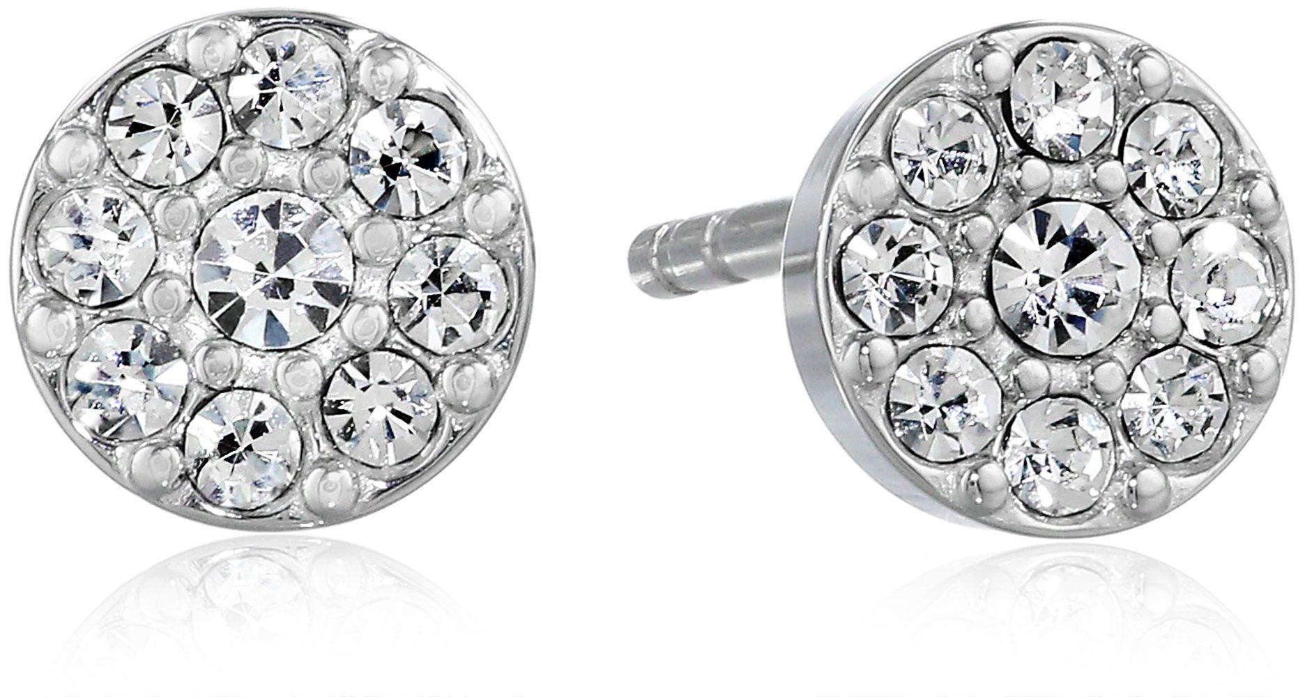 ویکالا · خرید  اصل اورجینال · خرید از آمازون · Fossil Disc Silver Stud Earrings wekala · ویکالا