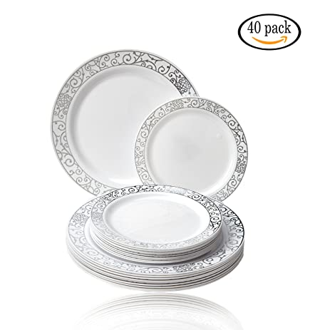 Amazon.com: Venetian Collection Elegant Fine China-look Disposable ...
