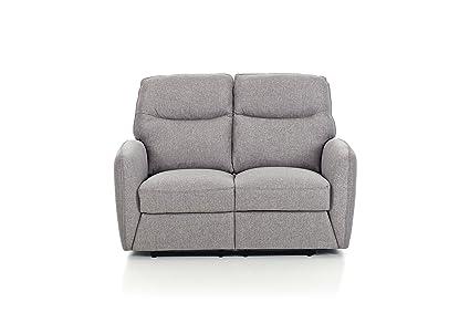 Divano Reclinabile Due Posti : Divano recliner posti struttura in legno mod kube colore grigio
