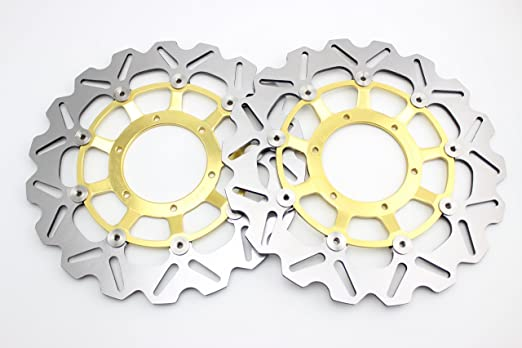 GZYF Front /& Rear Brake Disc Rotor For Honda 2006 2007 CBR1000RR 06 07 Gold