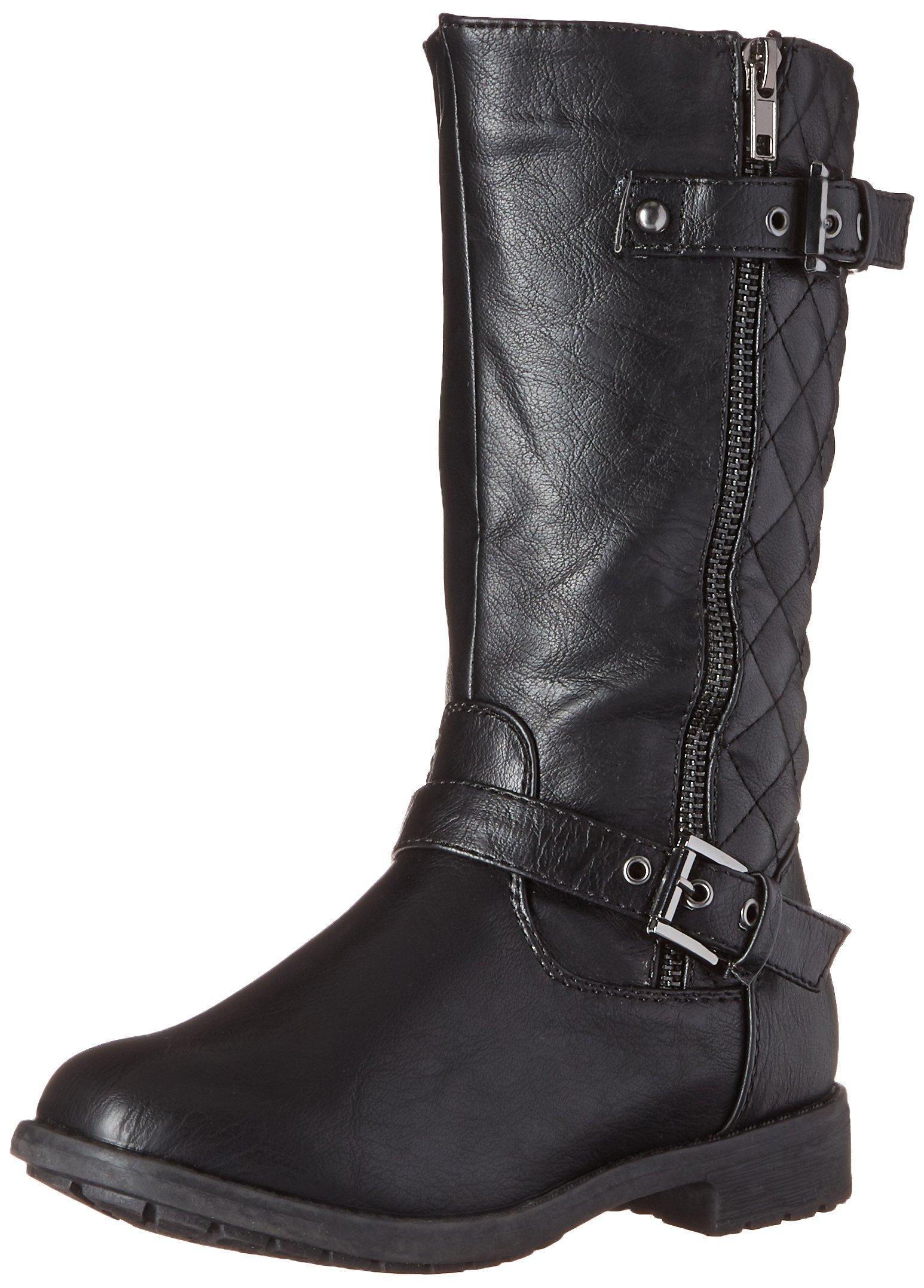 Lucky Top Girls Kids Pack-95K Riding Zipper Boots,Black,9