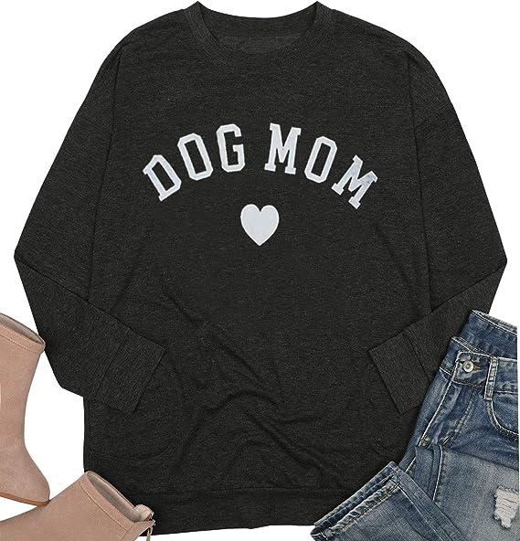 dog lover gift for mum love is.... metallic print long sleeve sweater Dog mum sweater size 16 dog loving gift