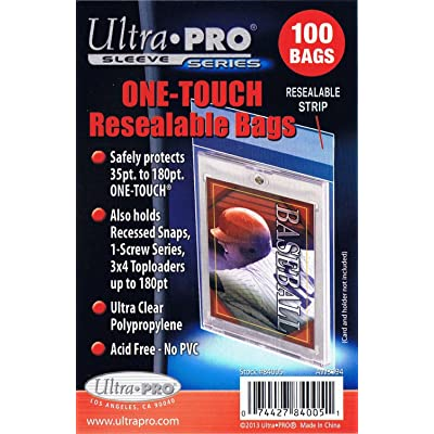 5 Ultra Pro Magnetic One Touch Resealable Bag Packs 84005 500 Total (5 100ct Packs) - For Magnetic Holders: Sports & Outdoors