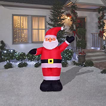 4 foot christmas inflatables airblown waving santa claus xmas blow up for outdoor lawn yard decoration - Outdoor Blow Up Christmas Decorations