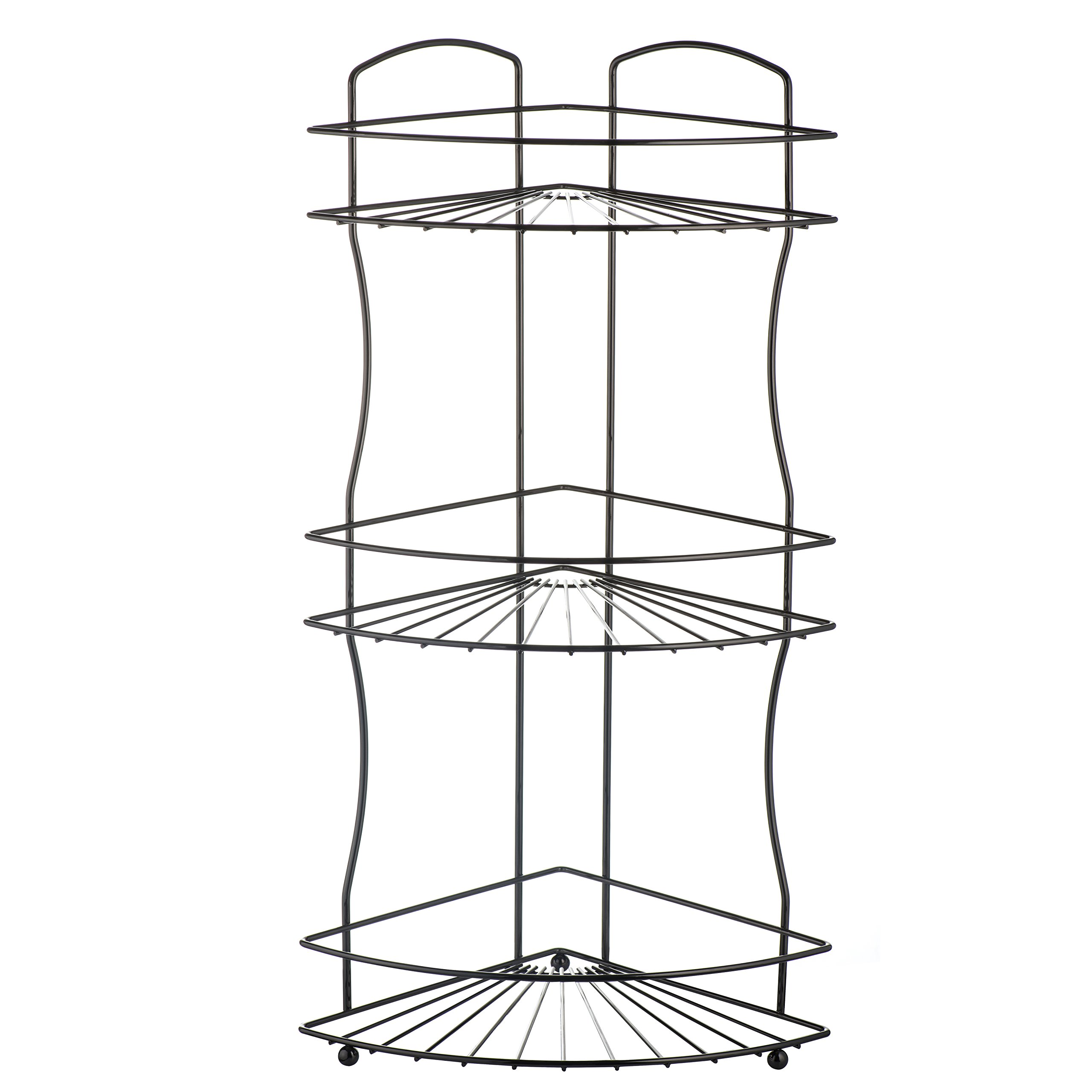 AMG and Enchante Accessories Free Standing Bathroom Spa Tower Floor Caddy, FC232-A BKN, Black Nickel by AMG (Image #7)