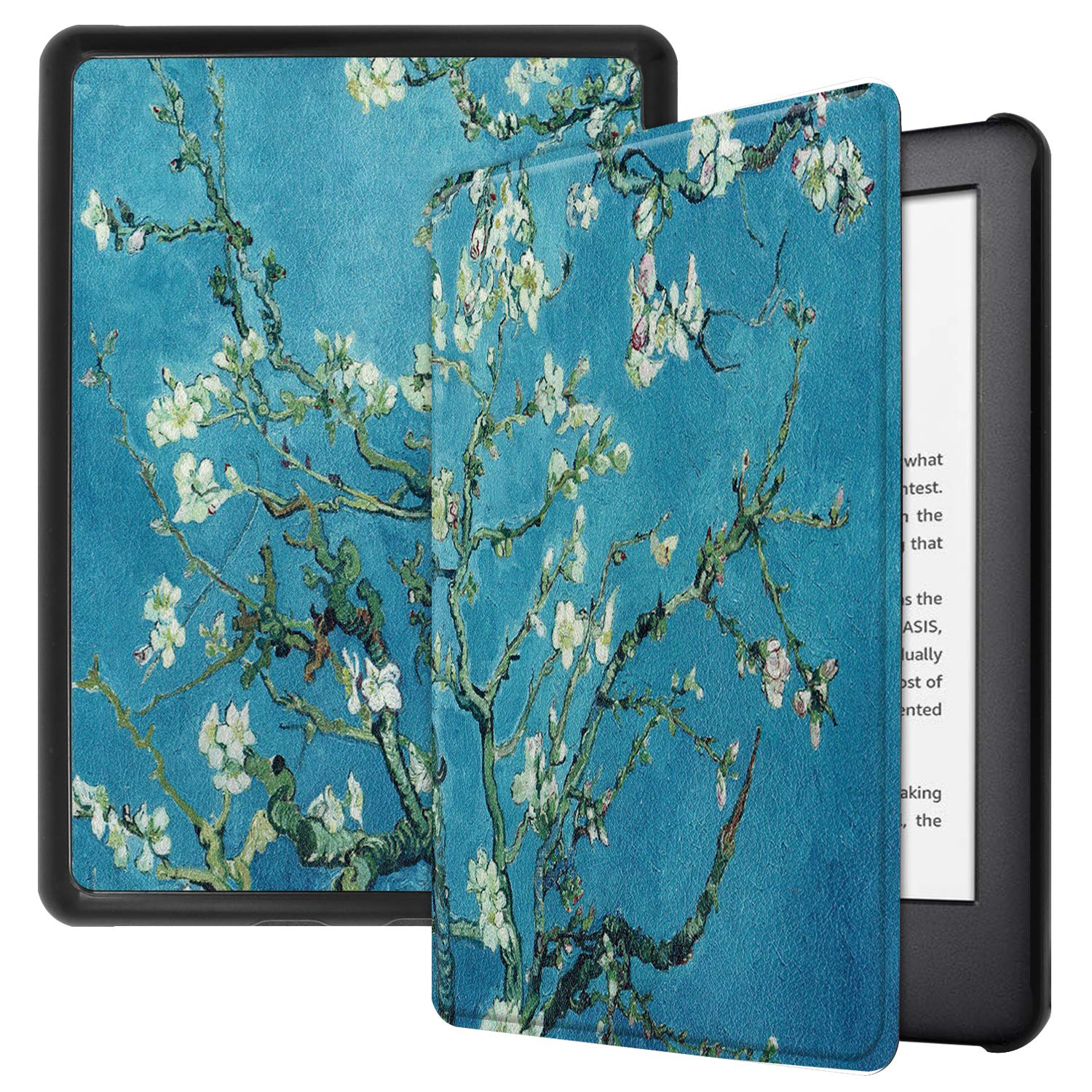 """Robustrion Ultra Slim Smart Flip Case Cover for All New 6"""" Amazon Kindle 10th Generation 2019 Cover - Aqua"""
