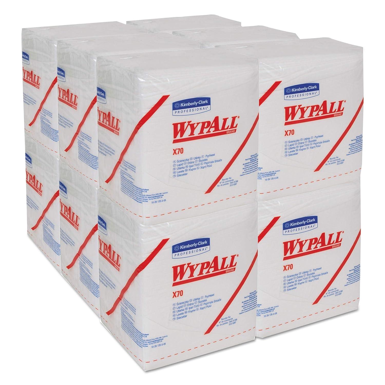 X70 Quarter Fold Cloths 1 Ply White WypAll 8387 12 Packs x 76 Quarter-Fold Cloths