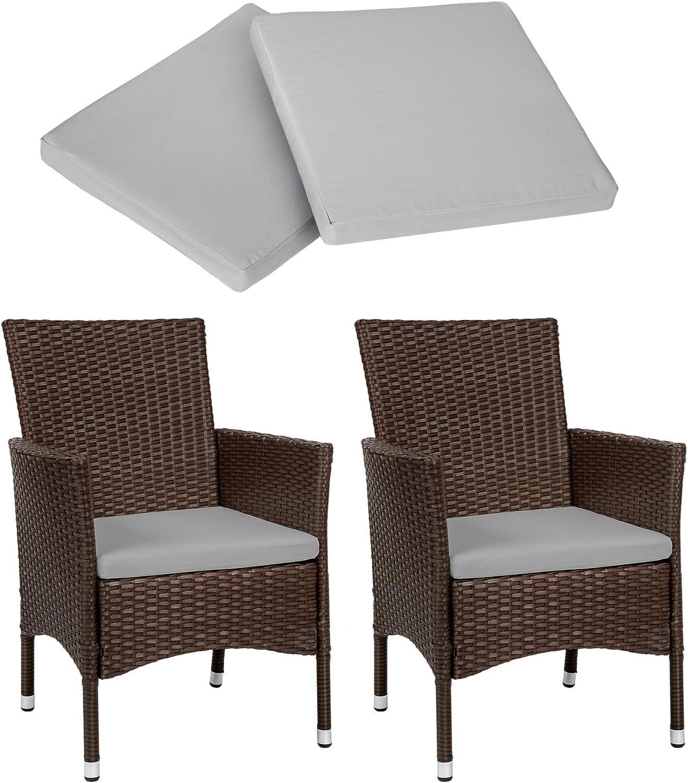 2 Pezzi Sedie da esterno Sedia da Giardino poli rattan poltrona arredo set misto