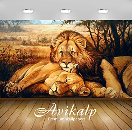 Buy Avikalp Exclusive Awi2378 Animals Lion Lioness Relaxing Full Hd