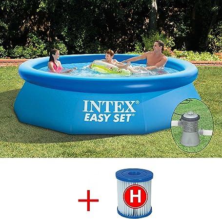 Intex Easy Set 28112 Piscina de 244 x 76 cm con bomba filtro + ...