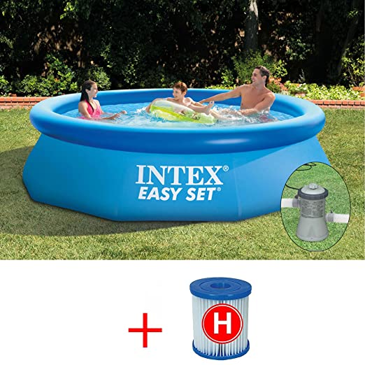 INTEX OFERTA PISCINA EASY SET 244 X 76 CM CON BOMBA FILTRO DE ...