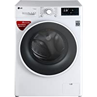 LG 8 kg Fully-Automatic Front Loading Washing Machine (FHT1208SWW.ABWPEIL, White)