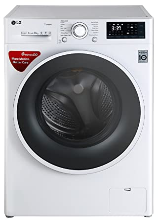 0ba07290a LG 8 kg Inverter Fully-Automatic Front Loading Washing Machine  (FHT1208SWW.ABWPEIL,
