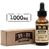 Hemp Oil 1000mg :: Hemp Oil for Pain :: Stress Relief, Mood Support, Healthy Sleep Patterns, Skin Care (1000mg, 33.3mg per Serving x 30 Servings) : R+R Medicinals