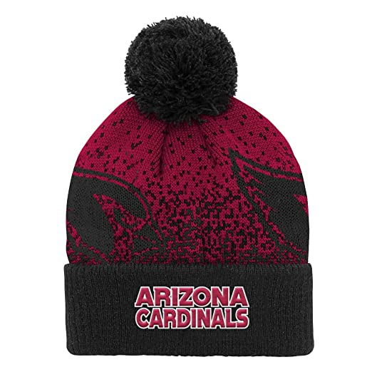 best authentic cae81 4f53c Amazon.com   Outerstuff NFL Arizona Cardinals Youth Boys Gradient Jacquard  Cuffed Knit Hat Cardinal, Youth One Size   Clothing
