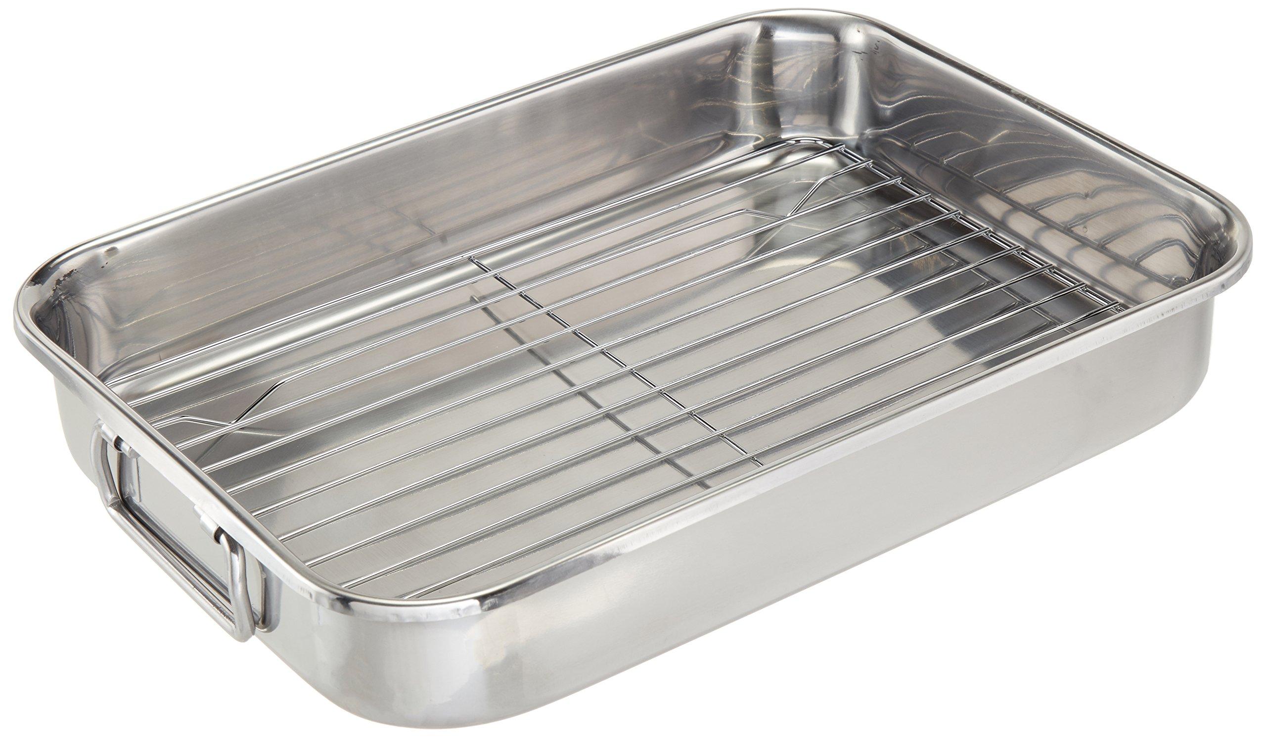 ExcelSteel 592 Roasting Pan, Stainless by ExcelSteel