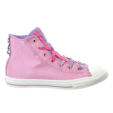a6801e072b6d Image Unavailable. Image not available for. Color  Converse Kid s Chuck  Taylor All Star Loopholes Hi Sneaker Shoe - Icy Pink Mod Pink