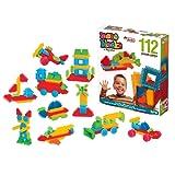 KIDZSTORES Mono Bristle Blocks, Building Set, Educational toys for kids 112 pcs