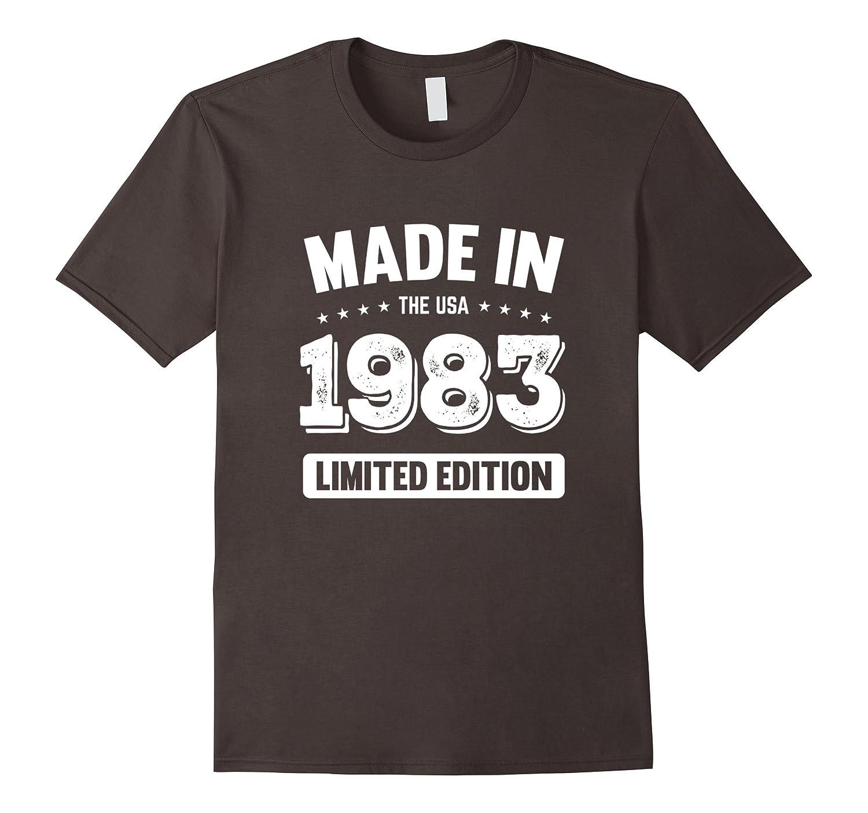 34th Birthday Gift T Shirt - Made In 1983 T-Shirt 1983 Shirt-BN