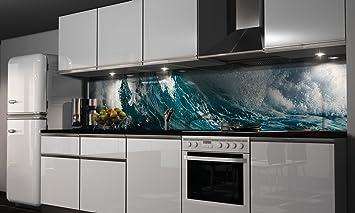 Küchenrückwand Folie selbstklebend Welle Klebefolie Dekofolie ...