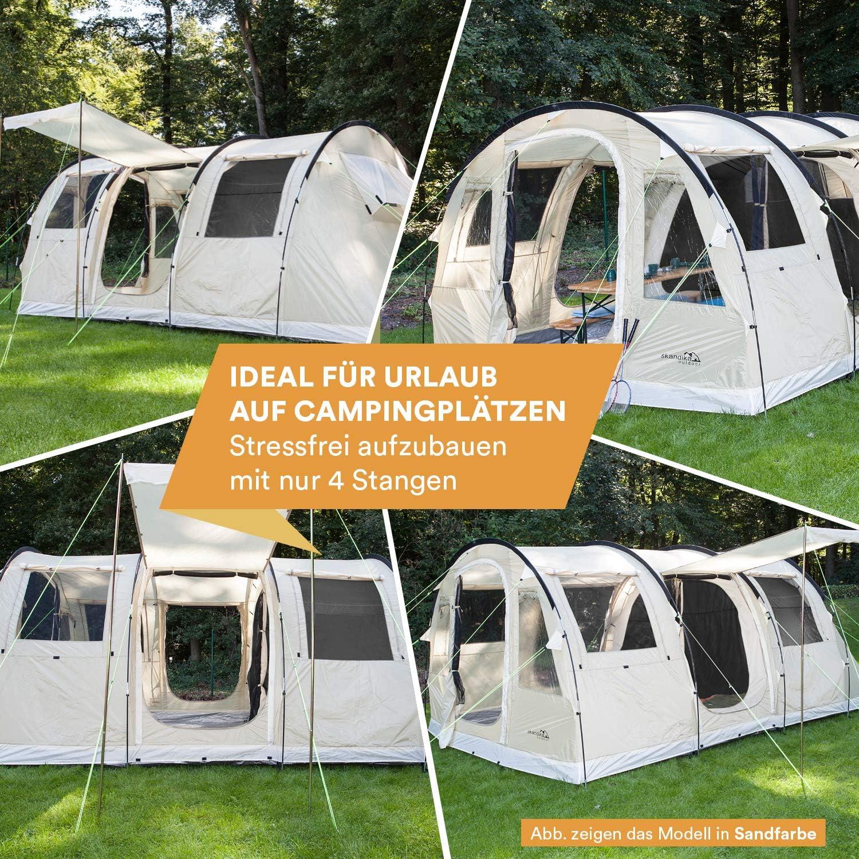 skandika Gotland 4 - Tienda de campaña Familiar - mosquiteras - Suelo Cosido en Forma de bañera - túnel (Gris): Amazon.es: Deportes y aire libre