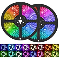 LED Strip Lights, 32.8ft/10M 5050 RGB 300 LEDs Strip Lights Non-Waterproof Rope Lights Color Changing Tape Light Kit…