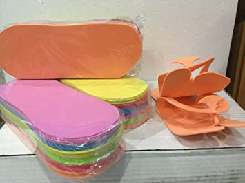 8fd22b7c1266 Amazon.com   Huini Disposable Pedicure Salon orange Flip Flop Slippers Nail  Foam Foot Sandle 48 Pairs Spa   Beauty