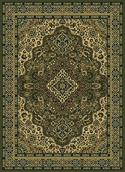 Radici USA 5 5 x 7 7 Rectangular Oscar Isberian Rugs Area Rug Sage Color Machine Made Italy Castello Collection Floral Pattern