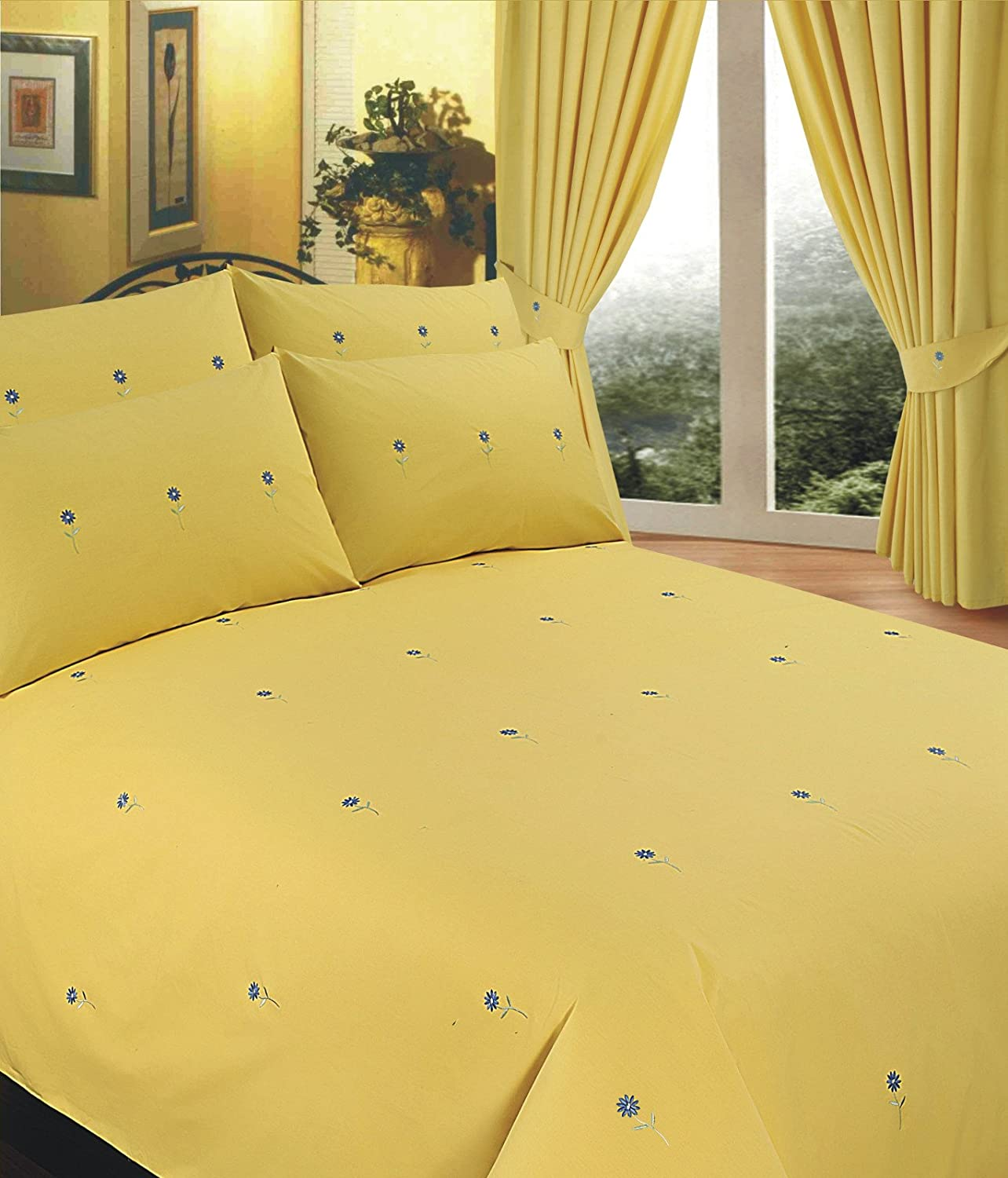 Emperor Size Bed Bellis Yellow, Duvet / Quilt Cover Set, BY ... : yellow quilt cover - Adamdwight.com