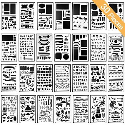 Stencils Template For DIY Scrapbooking Bullet Journaling Stencil Letters Notebook Diary Scrapbook Drawing Stamp Album Decor