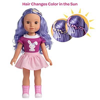 Adora Be Bright Doll, 14 inch Doll Lulu - Bunny, Hair Color Changes in The Sun, for Kids Age 3+: Toys & Games