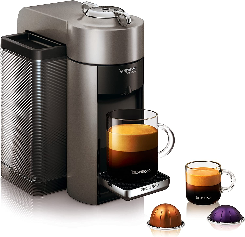 Nespresso Vertuo Coffee and Espresso Machine by DeLonghi Silver