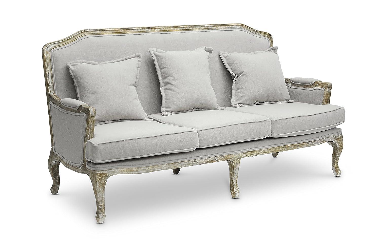 Amazon.com: Baxton Studio Constanza Classic Antiqued French Sofa: Kitchen U0026  Dining