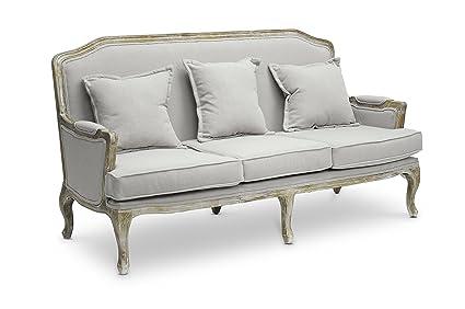 Baxton Studio Constanza Classic Antiqued French Sofa