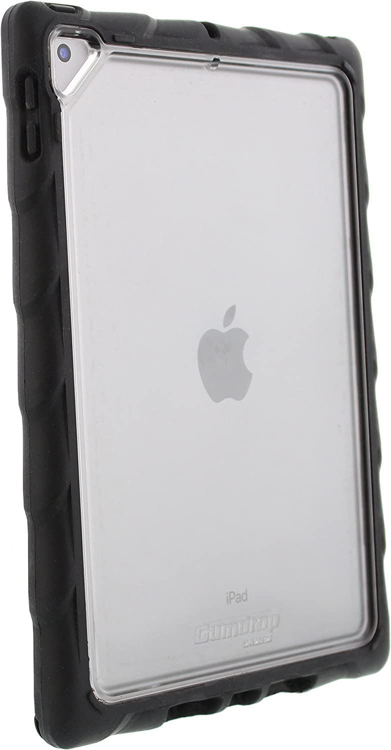 Gumdrop DropTech Clear Case Designed for the Apple iPad 9.7 (6th Gen and 5th Gen) Tablet for K-12 Students, Teachers, Kids - Black/Smoke, Shock Absorbing, Rugged, Extreme Drop Protection