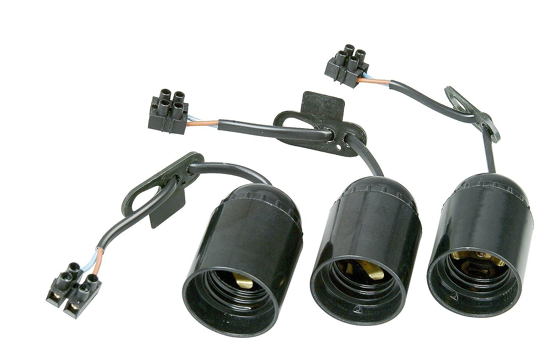 13 cm sichtbarer Leitung H03VV-F 2x0,75mm/² vormontiert mit ca CON:P Filz-Gleiter-Sortiment 275-teilig-selbstklebend-braun//wei/ß-Effektiver Schutz Ihrer M/öbel B34140 /& Renovier-Fassung schwarz