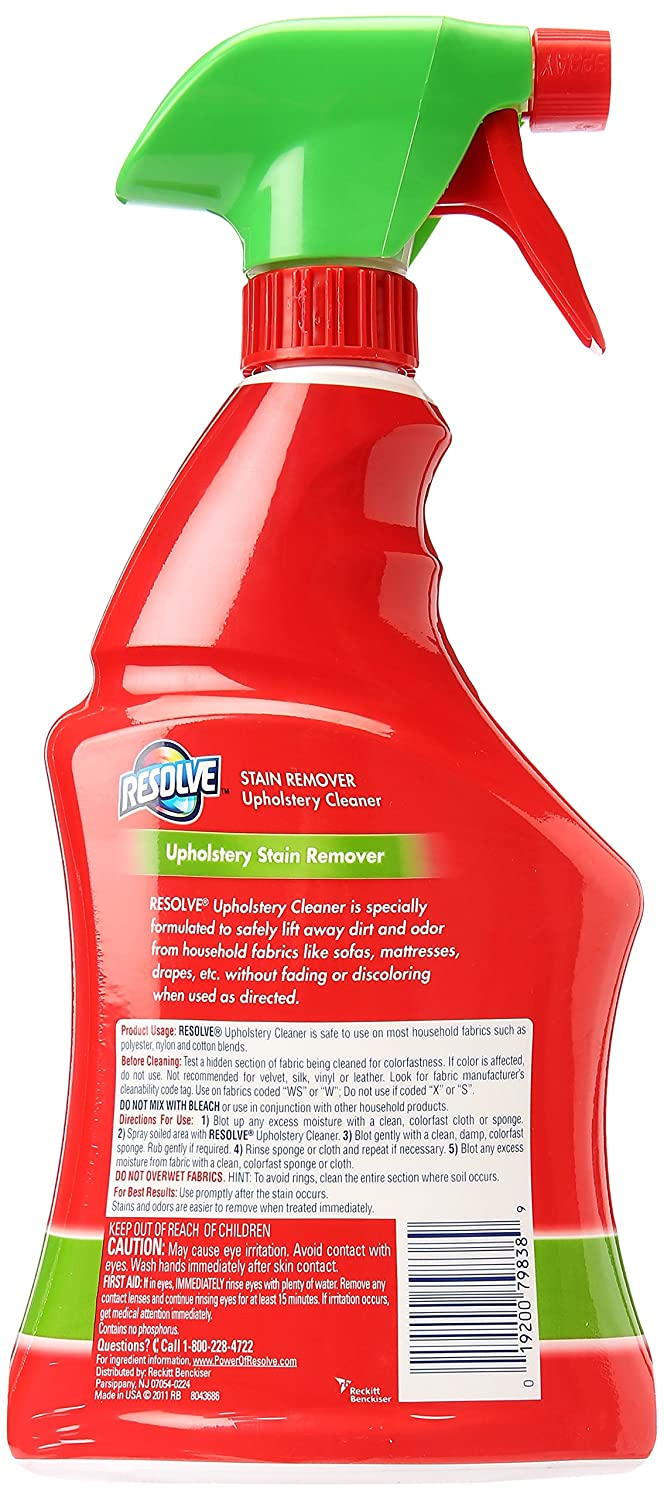 Amazon.com: Resolve Multi Fabric Cleaner Upholstery Stain Remover, 22 Oz:  Health U0026 Personal Care