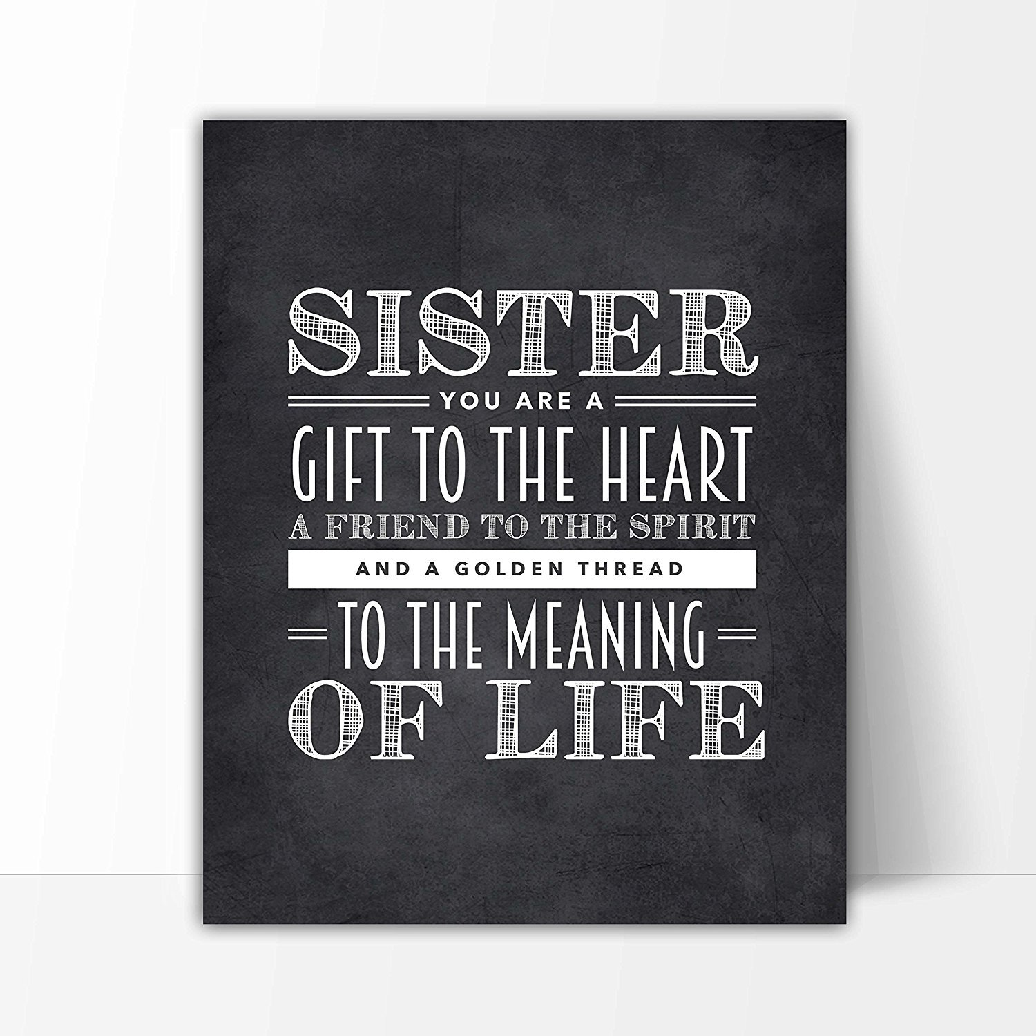 Sister Quote Sign, Unique Sister Gift, Sister Chalkboard Print, Best Sister  Gift, Sister Wall Decor, Sister Quotes - Beautiful Black and White ...