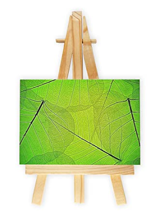 Grüne Blattmaserung Format 7x10 Cm Minileinwandbild Inkl