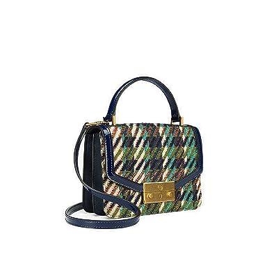 05548b8d79c6d Amazon.com  Tory Burch Juliette Tweed Mini Top Handle Satchel  Shoes